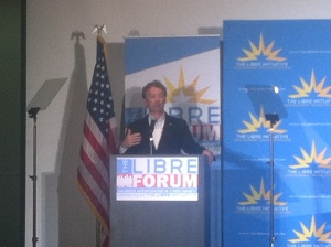 Rand Paul addresses Latino group in Las Vegas.